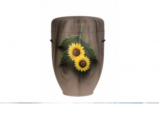 "6 Naturstoffurne ""Sonnenblumen"""