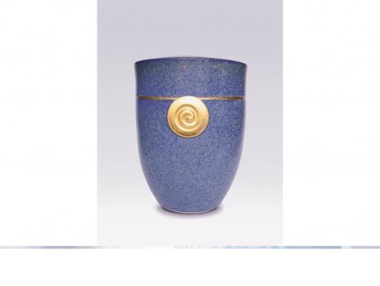 """Keramikurne """"Amalfi"""" mit Blattgold"""